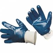 Перчатки нитриловые (полный облив,  манжета)